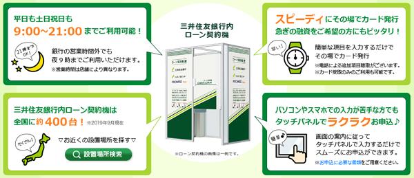 三井住友銀行内ローン契約機のスペック